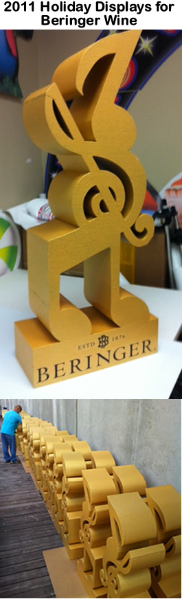 Retail Foam Prop Displays for BERINGER Wines