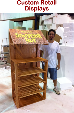 Custom Made Retail Displays and Props Made of Wood