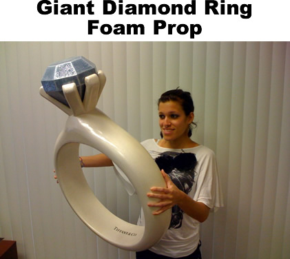 Custom made giant diamond ring foam prop