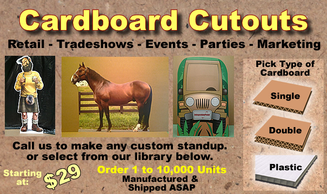 Cardboard Cutout Standup Props - Custom Made