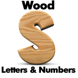 Custom Wood Letters  and Numbers