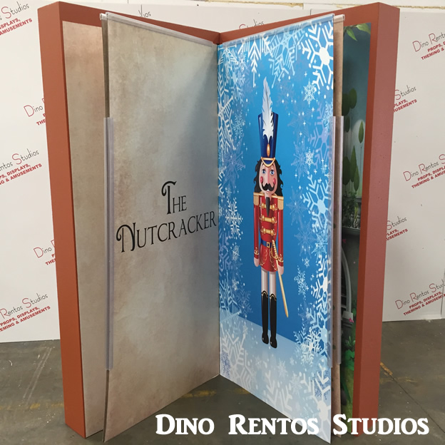 Book scenic sculpture prop with turning pages