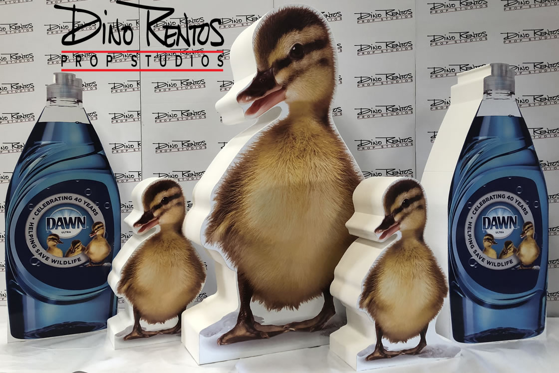 Print on Foam Dawn Soap and Ducks Prop and Display for tradeshows and events