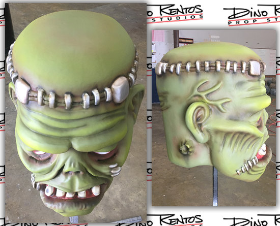 Giant Custom Foam Big Head Frankenstein Wearable Costume Prop
