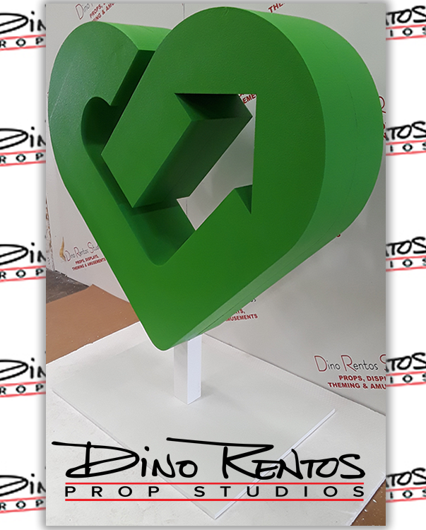 Custom Foam Heart Logo for Tradeshows and Conventions
