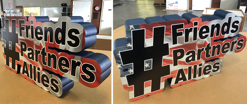 Custom Letters Print on Foam Prop and Display for Selfies