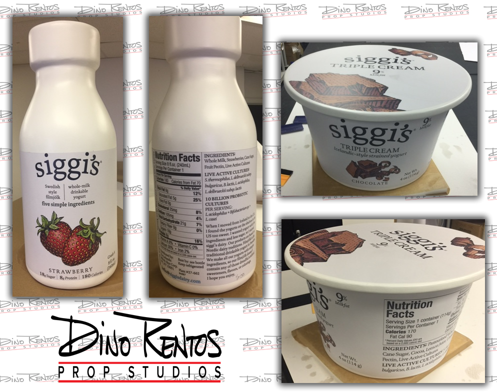 Large Custom Foam Food Yogurt Replica Prop for retail display and tradeshows