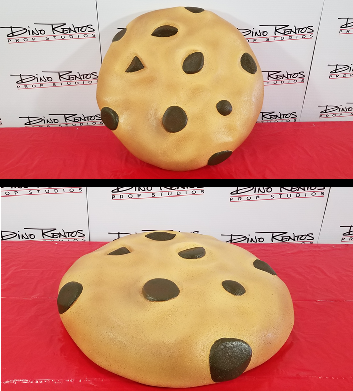 Large Chocolate Chip Cookie Foam Prop