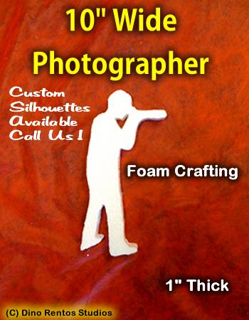 10 Inch Photographer Foam Shape Silhouette