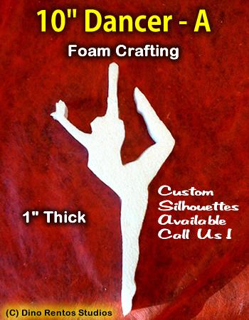 10 Inch Dancer A Foam Shape Silhouette