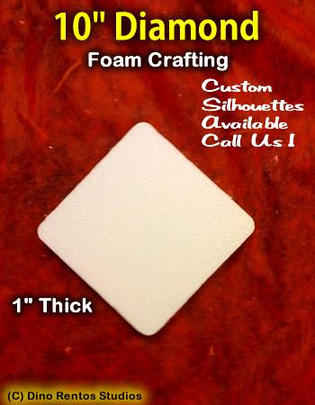 10 Inch Diamond  Foam Shape Silhouette