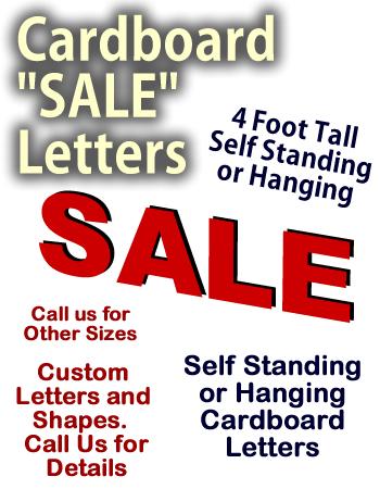 SALE Letters Cardboard Cutout Standup Display