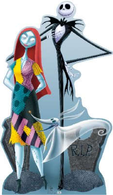 Jack, Sally, and Zero - The Nightmare Before Christmas Cardboard Cutout Standup Prop