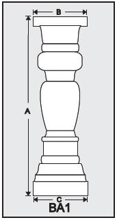 BA1 - Architectural Foam Shape - Baluster