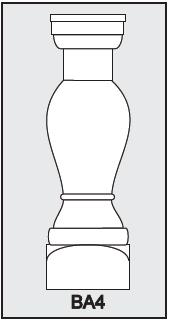 BA4 - Architectural Foam Shape - Baluster