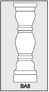 BA8 - Architectural Foam Shape - Baluster