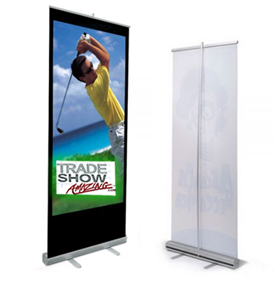 "Economy Roll Up Banner Stand- 33"" Width"