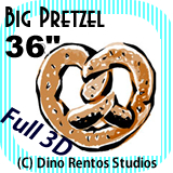 Big Giant Foam Pretzel Prop 36 Inches