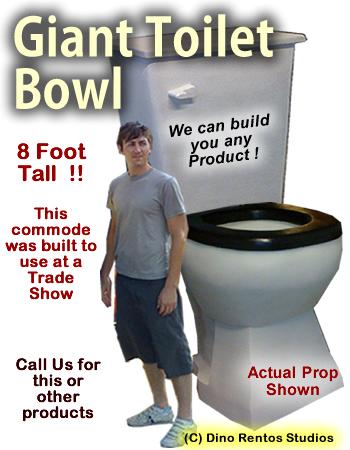 Giant Toilet Bowl/Commode Foam Prop