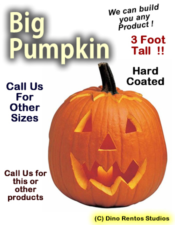 Big 3 Foot Halloween Pumpkin Foam Prop