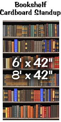 Bookshelf Cardboard Cutout Standup Prop