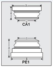 CA1-PE1 - Architectural Foam Shape - Capital & Pedestal