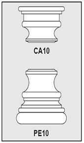 CA10-PE10 - Architectural Foam Shape - Capital & Pedestal