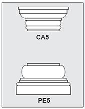 CA5-PE5 - Architectural Foam Shape - Capital & Pedestal