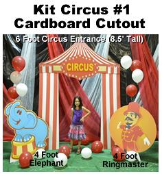 Circus Kit #1 Cardboard Cutout Standup Prop