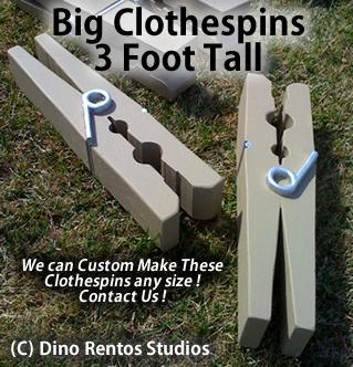 Big Foam Clothespin Prop - 3 Foot Tall