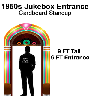 1950s Jukebox Entrance Cardboard Cutout Standup Prop