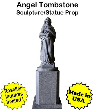 Tombstone Angel Sculpture Statue Prop