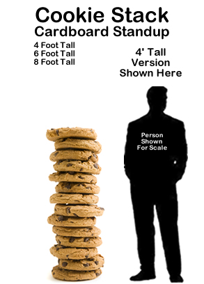 Chocolate Chip Cookie Stack Cardboard Cutout Standup Prop