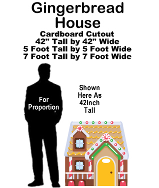 Gingerbread House Cardboard Cutout Standup Prop