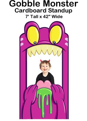 Gobble Monster Cardboard Cutout Standup Prop