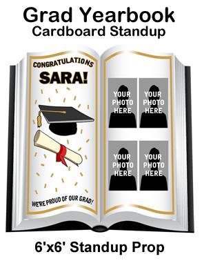 Grad Yearbook Cardboard Cutout Standup Prop