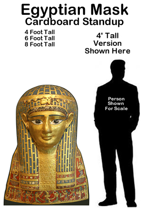 Egyptian Mask Cardboard Cutout Standup Prop