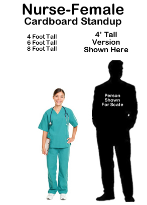 Nurse Female Cardboard Cutout Standup Prop