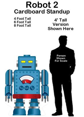 Robot 2 Cardboard Cutout Standup Prop