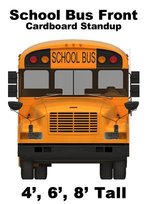 School Bus Front Cardboard Cutout Standup Prop