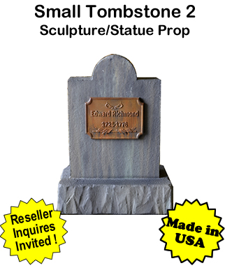 Tombstone Small 2 Sculpture Statue Prop