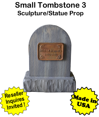 Tombstone Small 3 Sculpture Statue Prop