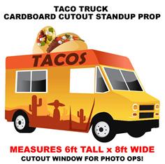 Taco Truck Cardboard Cutout Standup Prop
