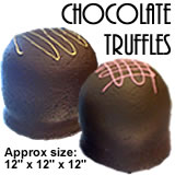 Giant Chocolate Truffle Foam Prop