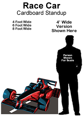 Race Car Cardboard Cutout Standup Prop