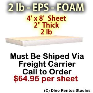 EPS Foam Sheet - 2 lb Density - 48x96x2