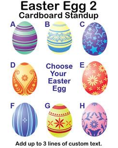 Easter Egg 2 Cardboard Cutout Standup Prop