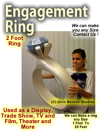 Giant/Big Engagement Ring Foam Prop