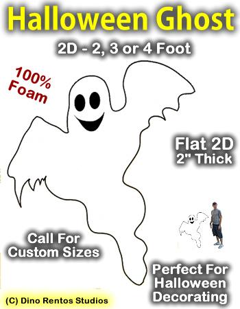Giant Ghost Foam Prop