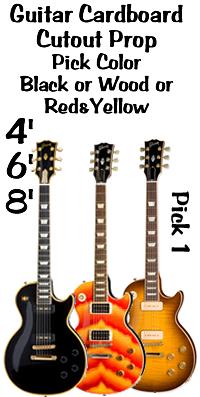 Guitar Cardboard Cutout Standup Prop